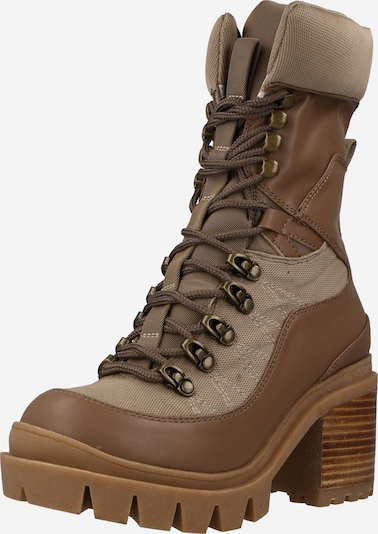 Jeffrey Campbell Lace-Up Ankle Boots 'MANIAC' in Beige / Cognac, Item view