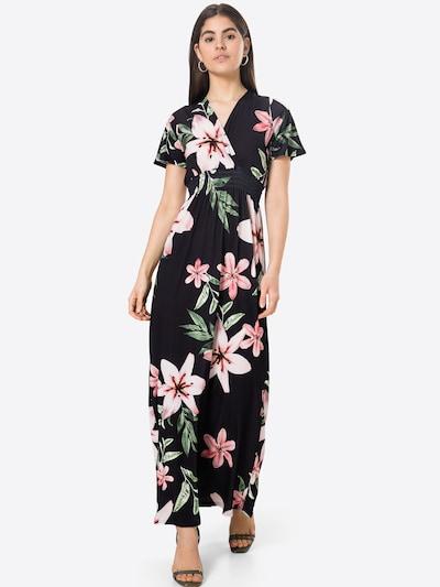 SISTERS POINT Večerna obleka 'GIJI' | zelena / roza / črna / bela barva, Prikaz modela