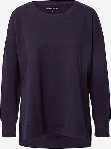 ESPRIT SPORT Sportsweatshirt i blå