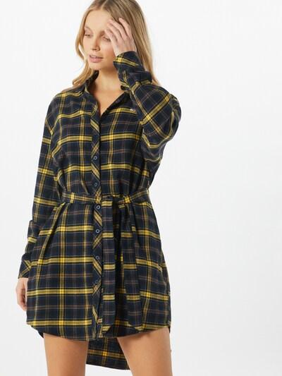 Tommy Jeans Kleid in dunkelblau / gelb / schwarz, Modelansicht
