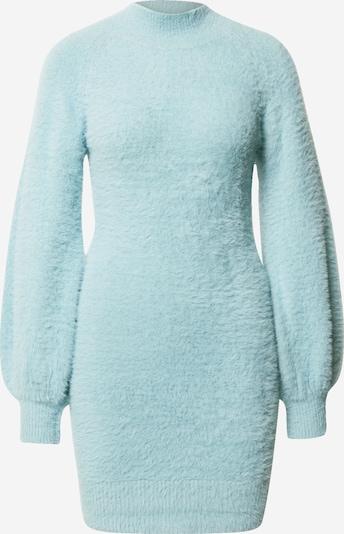 Bardot Robes en maille 'Bell' en bleu clair, Vue avec produit