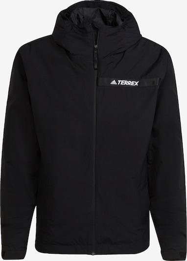 adidas Terrex Outdoorjas in de kleur Zwart / Wit, Productweergave