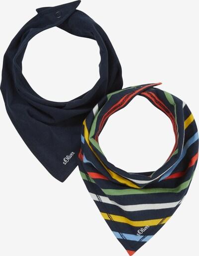 s.Oliver Stoffen mondkapje in de kleur Marine / Lichtblauw / Geel / Groen / Rood, Productweergave