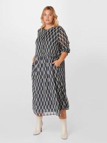 KAFFE CURVE Shirt Dress 'Smilla' in Blue