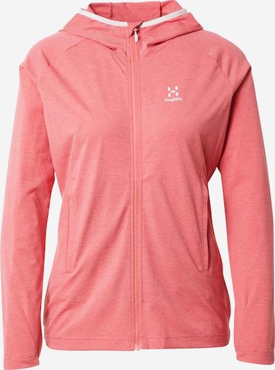 Haglöfs Sudadera con cremallera deportiva 'Mirre' en rosa / blanco, Vista del producto