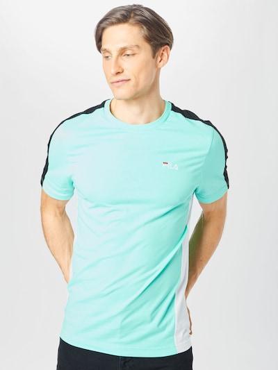 FILA Тениска 'Altan' в тюркоазен / черно / бяло: Изглед отпред
