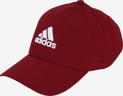 adidas Golf Casquette de sport en rouge foncé / blanc, Vue avec produit