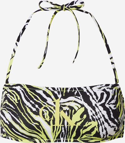 Sutien costum de baie Calvin Klein Swimwear pe verde neon / negru / alb, Vizualizare produs