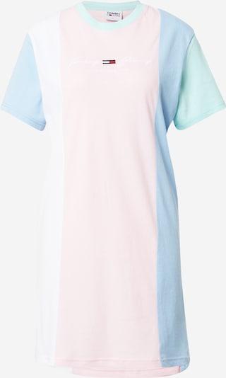 Tommy Jeans Kjole i lyseblå / mint / lyserød / hvid, Produktvisning