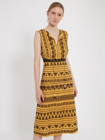 Ana Alcazar Midikleid ' Zelmy ' in gelb, Modelansicht