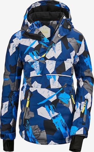 KILLTEC Skijacke 'Flumet' in blau / nachtblau / hellblau / weiß, Produktansicht