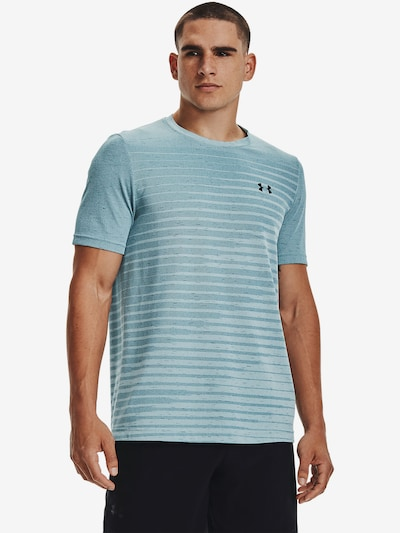 UNDER ARMOUR Functioneel shirt in de kleur Blauw / Lichtblauw: Vooraanzicht