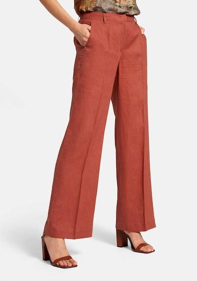 Peter Hahn Hose aus Leinen in rot, Modelansicht
