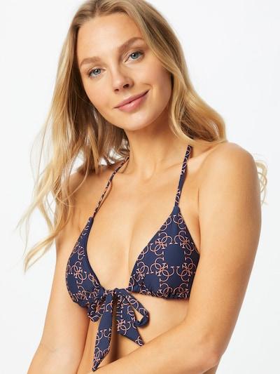 GUESS Hauts de bikini en bleu marine / orange foncé, Vue avec modèle