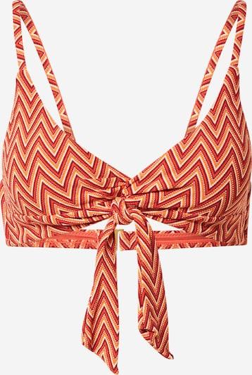 Seafolly Bikini augšdaļa, krāsa - oranžs / sarkans / balts, Preces skats