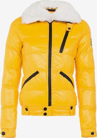 CIPO & BAXX Between-Season Jacket 'Spark' in Yellow