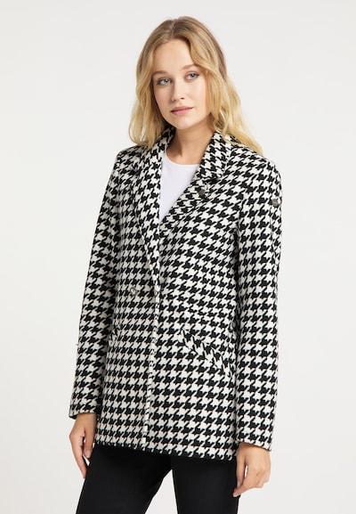 DreiMaster Vintage Blazer in schwarz / weiß, Modelansicht