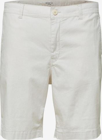 SELECTED HOMME Chino-püksid 'Isac', värv valge