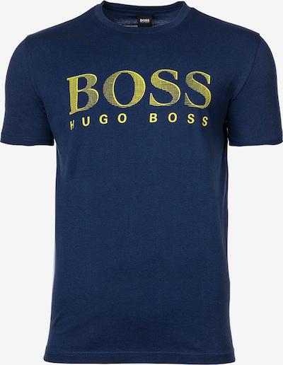 BOSS Casual Shirt in de kleur Donkerblauw / Geel, Productweergave