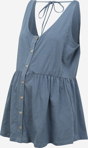 Camicia da donna 'MILLA' di Mamalicious Curve in blu