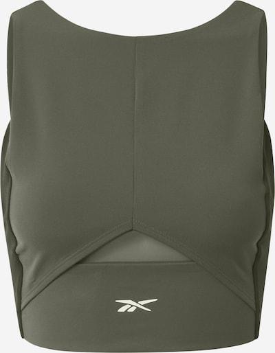 REEBOK Sporttop in khaki / schwarz / weiß, Produktansicht