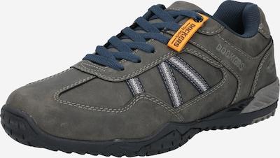 Dockers by Gerli Sneakers laag in de kleur Donkergrijs / Sinaasappel / Wit, Productweergave