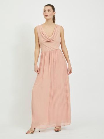 VILA Evening Dress 'Micada' in Pink