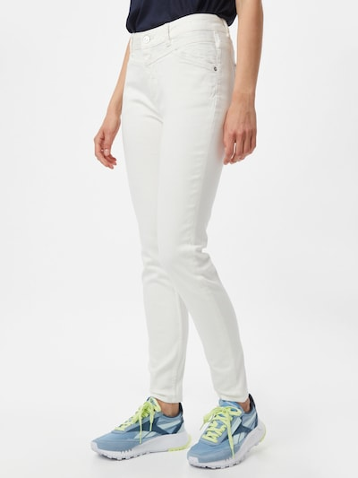 Ci comma casual identity Jeans in white denim, Modelansicht