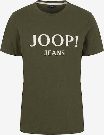JOOP! Jeans T-Shirt in grasgrün / naturweiß, Produktansicht