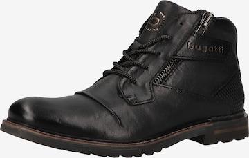 Bottines à lacets bugatti en noir
