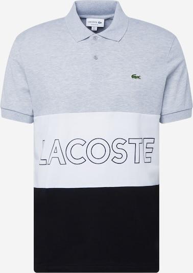 LACOSTE T-Krekls, krāsa - raibi pelēks / melns / balts, Preces skats