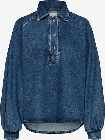 SELECTED FEMME Rundsaum Jeanshemd in blue denim, Produktansicht
