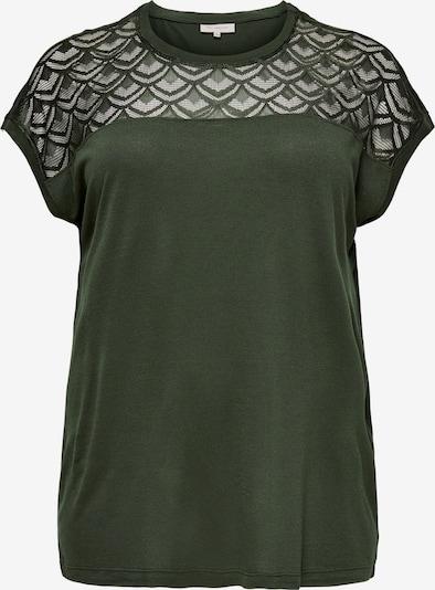 ONLY Carmakoma T-Shirt 'Carflake' in dunkelgrün, Produktansicht