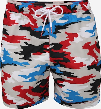 Șorturi de baie Tommy Hilfiger Underwear pe albastru royal / gri deschis / roși aprins / negru / alb, Vizualizare produs