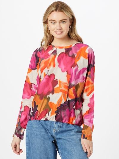 LIEBLINGSSTÜCK Bluse 'Fiza' in beige / braun / orange / pink / weinrot, Modelansicht