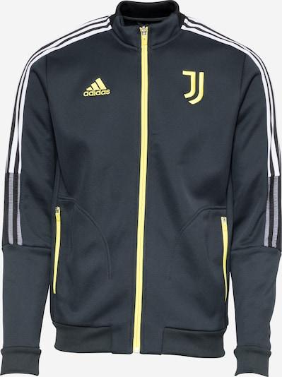 ADIDAS PERFORMANCE Sportsweatjacke 'JUVE ANTHEM' in gelb / schwarz / weiß, Produktansicht