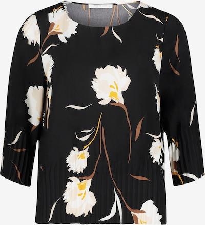 Betty & Co Langarm-Bluse mit Plissee in schwarz, Produktansicht