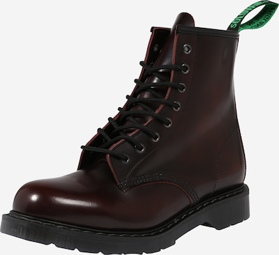 Boots stringati '8 Eye' Solovair di colore borgogna, Visualizzazione prodotti