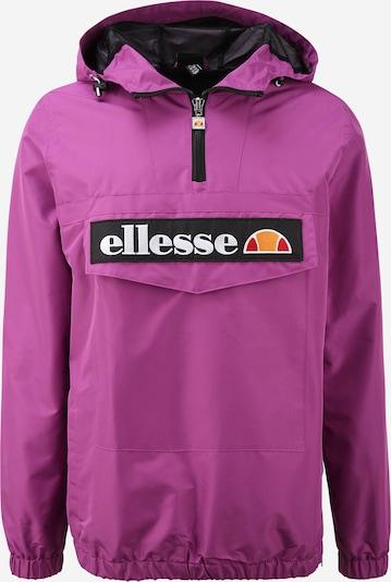 ELLESSE Tussenjas 'Mont 2 OH' in de kleur Donkerlila / Sinaasappel / Rood / Zwart / Wit, Productweergave