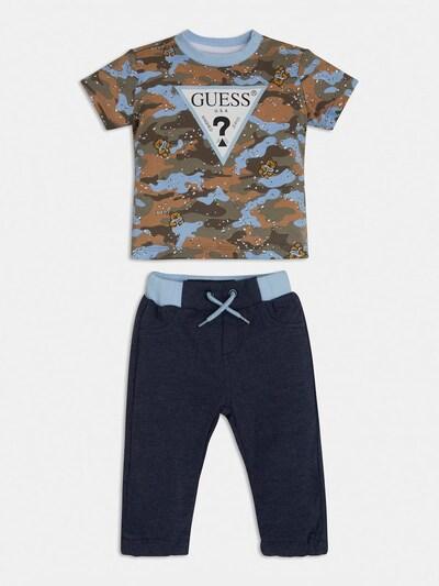 GUESS KIDS Guess Kids SET T-SHIRT UND HOSE in blau, Produktansicht