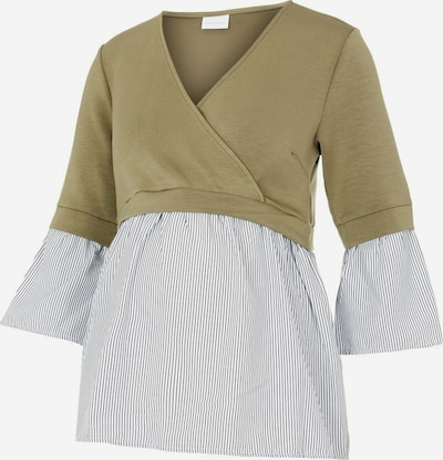 MAMALICIOUS Shirt in dunkelbeige / weiß, Produktansicht