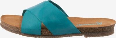 Greenova Pantolette in türkis, Produktansicht