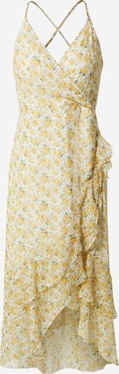 Abercrombie & Fitch Kleid 'Ruffle' in pastellgelb / weiß, Produktansicht