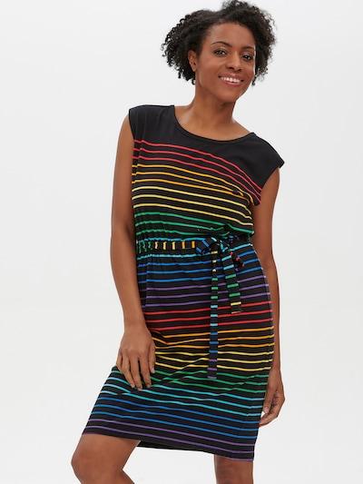 Sugarhill Brighton Kleid 'Hetty Night Rainbow ' in blau / gelb / grün / lila / orange / rot / schwarz, Modelansicht