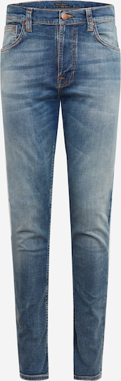 Nudie Jeans Co Jeans ' Lean Dean Broken Sage ' in blue denim: Frontalansicht