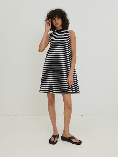 EDITED Kleid 'Aleana' in navy / weiß, Modelansicht