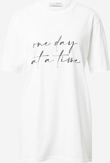 In The Style T-Shirt in schwarz / weiß, Produktansicht