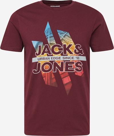 JACK & JONES T-Shirt in türkis / goldgelb / hellgrau / weinrot / melone, Produktansicht