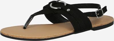 Hailys Zehentenner 'Lisa' in schwarz, Produktansicht