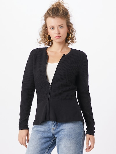 Esprit Collection Strickjacke 'Peplom' in schwarz, Modelansicht
